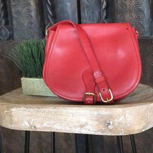 Coach Red Leather Saddle Crossbody bag